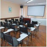 orçamento para locação de salas para treinamento na Saúde
